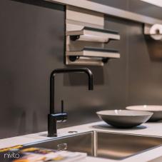 Black Kitchen Mixer Tap - Nivito 43-RH-320
