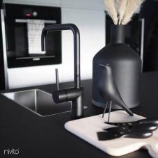Black Kitchen Mixer Tap - Nivito 44-RH-320