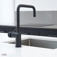 Black Kitchen Mixer Tap - Nivito 45-RH-320