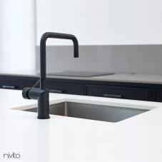 Black Kitchen Mixer Tap - Nivito 47-RH-320