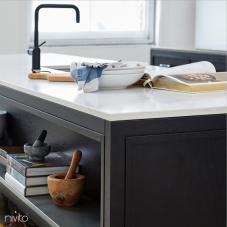 Black Kitchen Mixer Tap - Nivito 48-RH-320