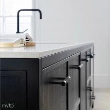 Black Kitchen Mixer Tap - Nivito 49-RH-320