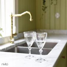 Brass/Gold Kitchen Mixer Tap - Nivito 5-CL-160