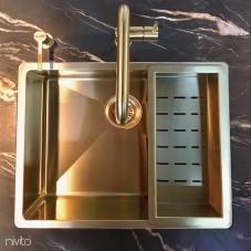 Brass/Gold Kitchen Mixer Tap - Nivito 5-RH-340