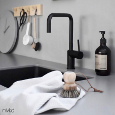 Black Kitchen Mixer Tap - Nivito 51-RH-320
