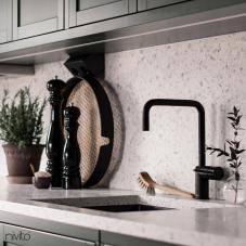 Black Kitchen Mixer Tap - Nivito 52-RH-320
