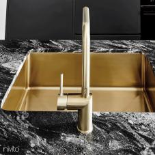 Brass/Gold Kitchen Mixer Tap - Nivito 6-RH-340