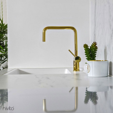 Brass/Gold Kitchen Mixer Tap - Nivito 6-RH-360