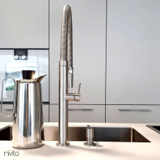 Stainless Steel Kitchen Mixer Tap Pullout hose - Nivito 7-SH-100
