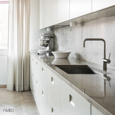 Stainless Steel Kitchen Mixer Tap - Nivito 8-RH-300