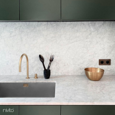 Brass/Gold Kitchen Mixer Tap Pullout hose / Seperated Body/Pipe - Nivito 9-RH-140-VI