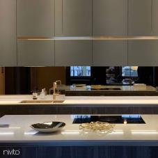 Brass/Gold Kitchen Mixer Tap Pullout hose - Nivito 9-RH-340-EX