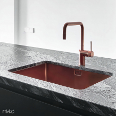 Copper Kitchen Mixer Tap - Nivito 1-RH-350