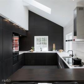 Kitchen water tap black