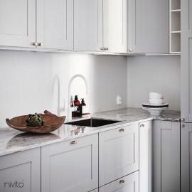 White kitchen tap