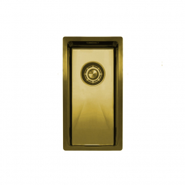 Brass/gold Kitchen Sink - Nivito CU-180-BB