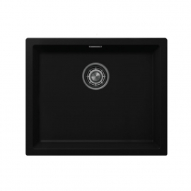 Black Kitchen Sink - Nivito CU-500-GR-BL