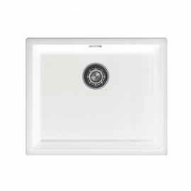 White Kitchen Basin - Nivito CU-500-GR-WH