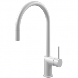 White Kitchen Tap Pullout hose - Nivito RH-130-EX