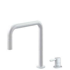 White Kitchen Tap Pullout hose / Seperated Body/Pipe - Nivito RH-330-VI