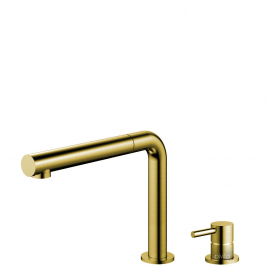 Brass/gold Kitchen Mixer Tap Pullout hose / Seperated Body/Pipe - Nivito RH-640-VI
