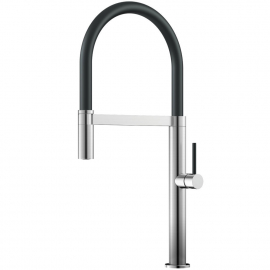 Stainless Steel Kitchen Mixer Tap Pullout hose / Brushed/Black - Nivito SH-200