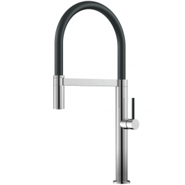 Kitchen Tap Pullout hose / Polished/Black - Nivito SH-210