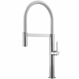 Kitchen Tap Pullout hose / Polished/White - Nivito SH-310